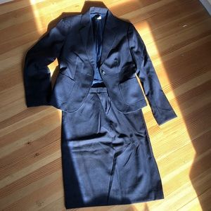 J Crew Navy modern cut suit set